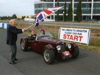 Stirling Moss starts Nick and The Boss in the London - Brighton Rally 2011